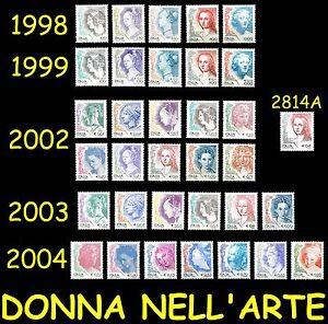 Italia-Donna-nell-039-arte-Tutte-le-emissioni-MNH-1998-1999-2002-2003-2004