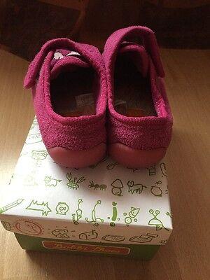 Mädchen Haus Schuhe Pink mit Klettverschluss Gr.27 Gebrauchte Zustand!!!