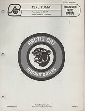 1973 ARCTIC CAT SNOWMOBILE PUMA 440AP P/N 0185-017 PARTS MANUAL (049)