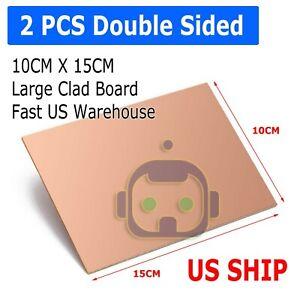 2PCS-10cm-x-15cm-Two-Sided-DIY-Copper-Clad-Plate-Laminate-PCB-Circuit-Board-LW