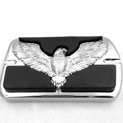 Eagle Chrome Brake Pedal Large Pad For Harley Touring Softail Fat Boy