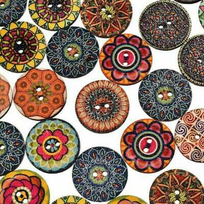 50 Pcs Mixed Color Animal Shape 2 Hole Wood Buttons For Sewing//Scrapbook UK