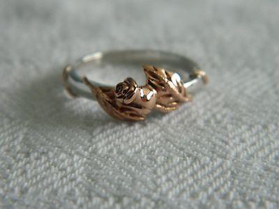 Clogau Silver & Welsh Gold Glyn Rhosyn Rose Ring size M RRP £199.00
