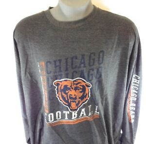 reputable site c919c fd714 Details about NEW Mens MAJESTIC Chicago Bears Long Sleeve Charcoal Grey Big  & Tall NFL Shirt