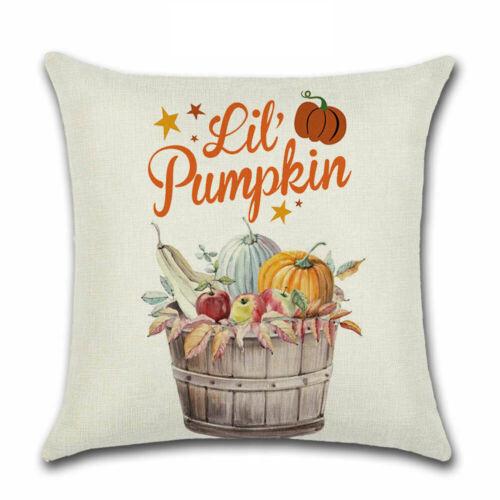 Pillow Fall Rustic Case Cushion Cover Decor Home Sofa Thanksgiving Art Autumn