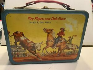 Vintage Roy Rogers and Dale Evans Double R Bar Ranch 1950s Lunch Box.