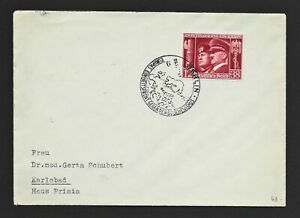 DR WWII Germany Rare WW2 Cover 1941 Stamp Fancy Cancel Hitler Mussolini Allianc
