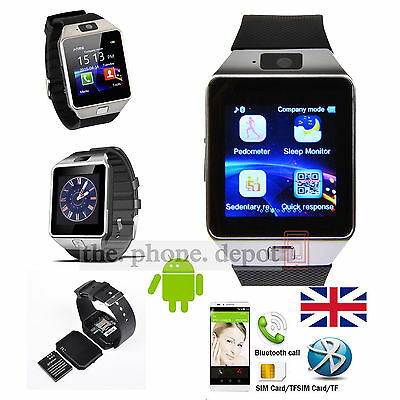 Black Bluetooth DZ09 Smart Watch For HTC LG Samsung Android Phone & Camera SIM