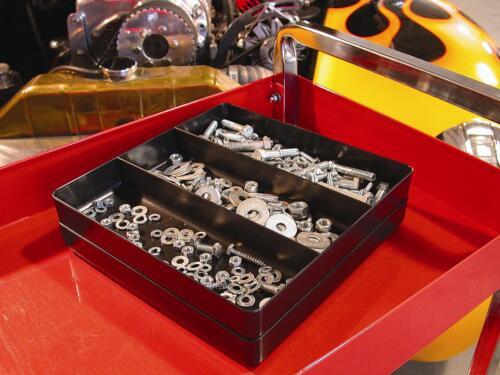 "Ernst 5021 /""The Tray Junior/"" 3-Compartment Tool Organizer BLACK"