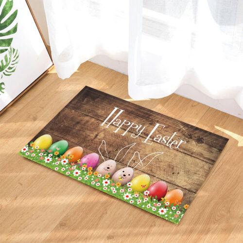 Cute Egg Flower For Easter Non-Slip Floor Outdoor Indoor Front Door Mat bathroom