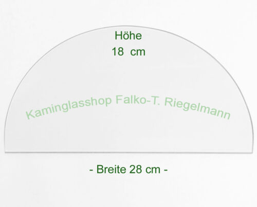 Ofenglas 28 x18 cm  Dicke 4 od BULLERJAN 02   ROBAX®-Kaminglas 5 mm