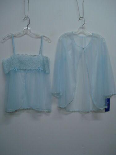 USA Made Nancy King Lingerie Baby Doll Top /& Jacket Pajamas 3X Blue #466N