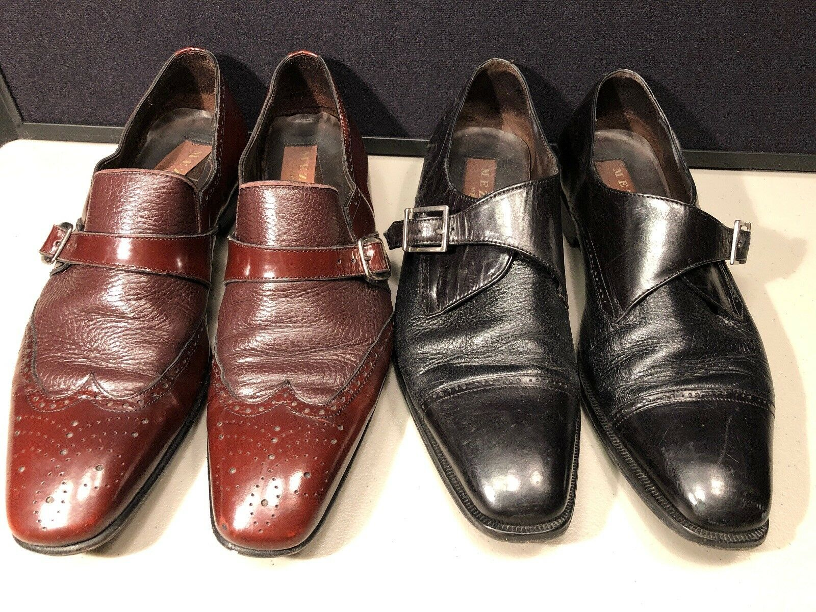Mens Mezlan Vero Cuoio  Leather Loafers 8.5 M