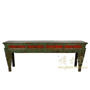Details About Antique Chinese 4 Drawers Painted Long Sofa Table Console