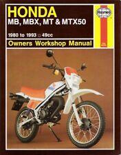 honda mt5 mb5 mt50 mb50 1980 1991 haynes shop manual book mb mt rh ebay com Honda Mb50 1982 Honda MB5 Specs