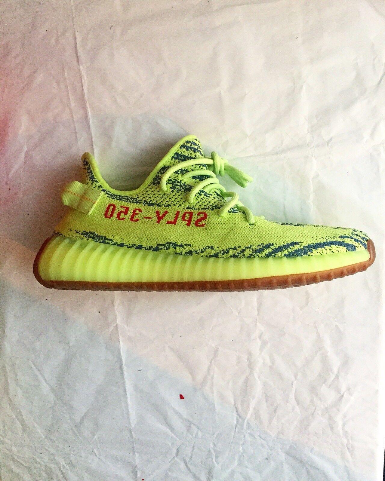 Adidas Yeezy Boost 350 v2 Semi Frozen Yellow Yebra size 8.5 Kanye West