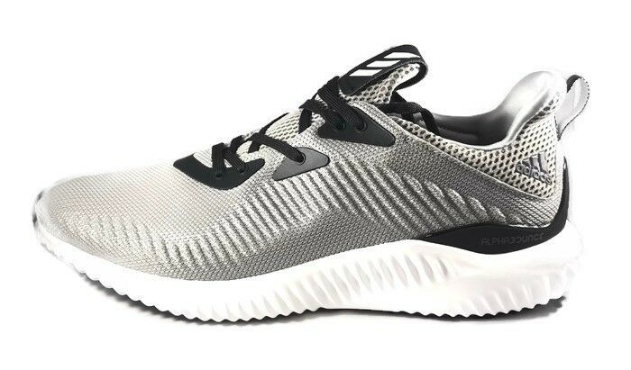 Mens Adidas Alphabounce 1 Medium Grey Running Athletic Sport shoes BW0540 Size 11