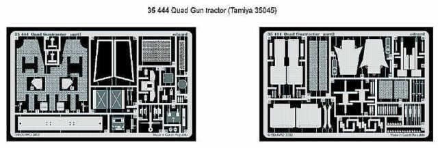 Eduard 1/35 Quad Pistola Trattore Progettato To Be Utilizzato con Tamiya Kit #