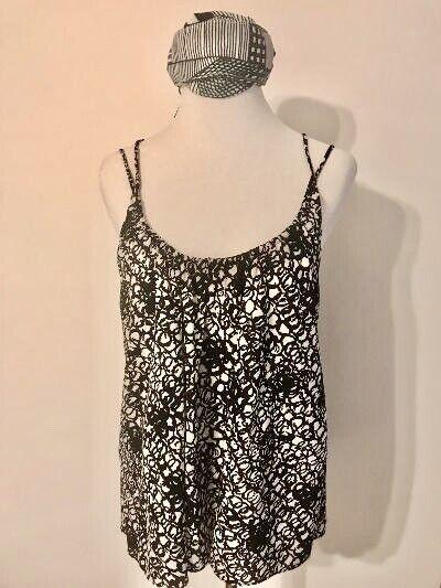 Balenciaga Black and White Silk Multi Strap Camis… - image 12