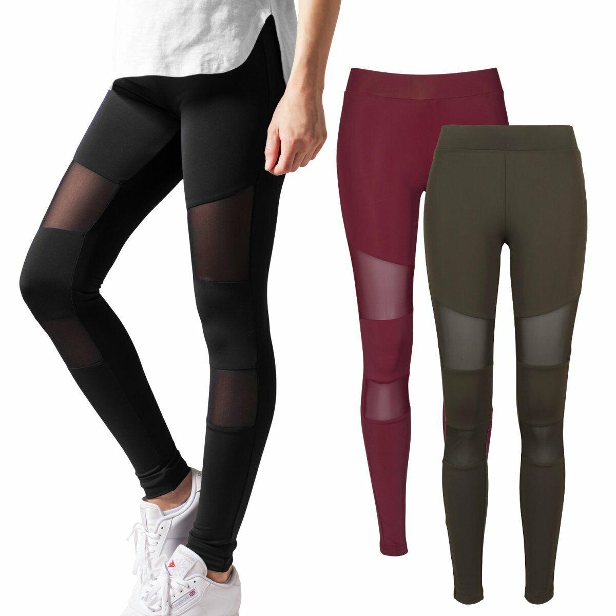 Urban Classics Damen Leggings Sporthose Fitness Ladies Camo