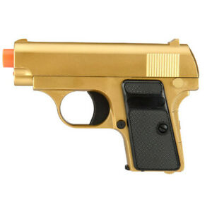 Uk Arms Gold Full Metal Sub Compact Spring Vest Pocket Airsoft Pistol Handgun 700985484498 Ebay