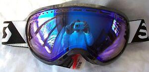 NEW $120 Scott Mens Off Grid Black Snow Winter Ski goggles Smith white blue lens