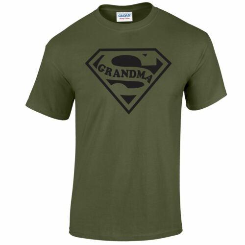 Super mamie Top Funny T Shirt Cadeau Mère Jour Cadeau Tee Homme Femmes