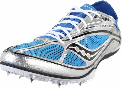 Sil//Blu//Blk Saucony Men/'s Endorphin MD3 Track /& Field Spike Shoes 20145-2
