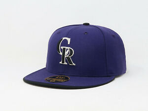 New-Era-59Fifty-Mens-MLB-Cap-Colorado-Rockies-Alt-2-AC-On-Field-Fitted-Wool-Hat