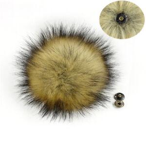 Imitation raccoon fake fur HairHuge ball fluffy pompon hat bag Shos accessories—