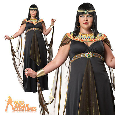 Adult Plus Size Cleopatra Costume Nile Queen Egyptian Ladies Fancy Dress Outfit