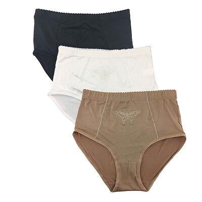 3 Pcs Lot Women's High Waist Tummy Control Briefs Panties Underwear,S M L XL XXL