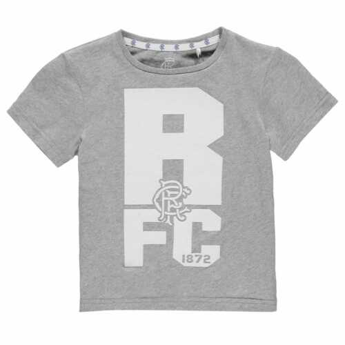 Team Kids Boys Rangers Crest T Shirt Infant Licensed Crew Neck Tee Top Short