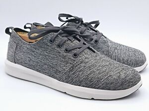 TOMS-Gray-Canvas-Lace-Up-Low-Top-Sneakers-Shoes-Men-039-s-Size-7