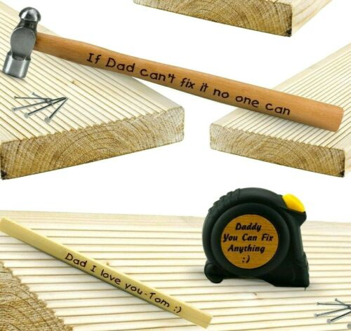 Christmas Present gift for Man him Father Personalised Tape Measure Dad hammer