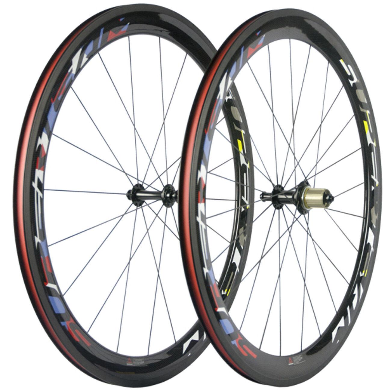 Superteam 700C HubSmith Ceramic Cycling Carbon Wheels 50mm Clincher Carbon Wheel