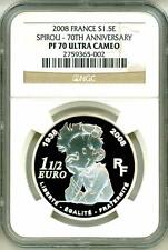 2008 S1.5E France Spirou - 70th Anniversary NGC PF70 Ultra Cameo