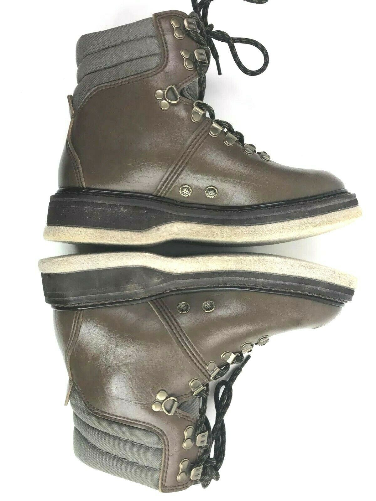 Simms Wading Boots 6 Felt Sole Fly Fishing Leather Mens Freestone Ankle Boot