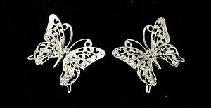 2-pequenas-color-plata-butterfly-broches-OFERTA