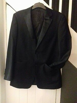 Coraggioso Completo Da Uomo Giacca Taglia M Medium Giacca Nero Elegante 38r Blazor Blazer Matrimonio- Aspetto Estetico