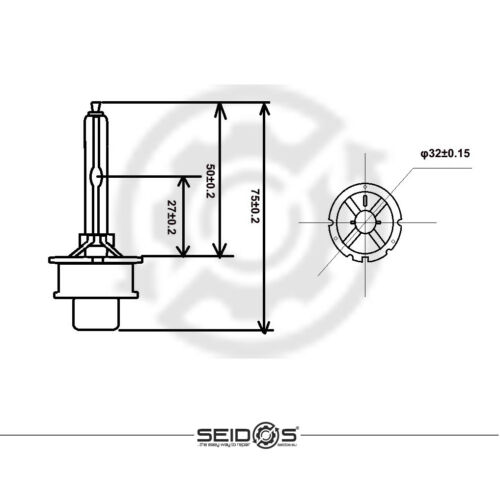 DUO-SET SEIDOS D2S 6000K STANDARD EDITION Xenon Brenner Scheinwerfer Lampe NEU-3
