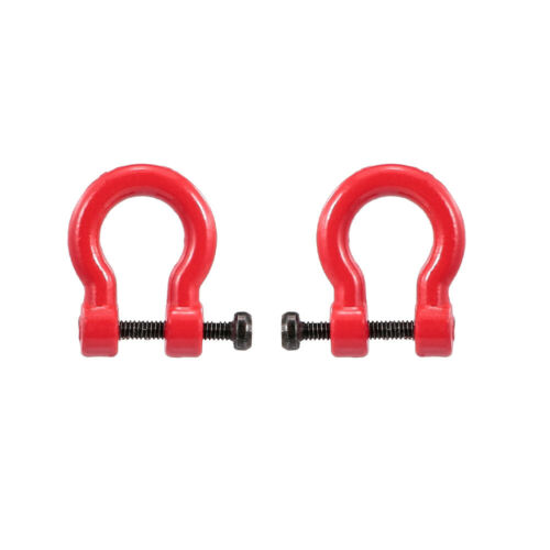 2pcs Tow D-Ring Shackles Trailer Hook Trailer Lock for 1//10 Traxxas HSP Z9S3