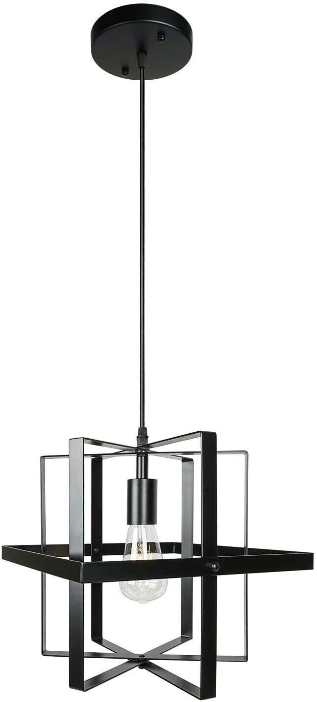 Mengjay Metal Industrial Ceiling Lighting Modern Pendant Light Shade Chandelier Lighting E27 For Living Room Kitchen Hanging Lighting Black Indoor Lighting Pendant Lights