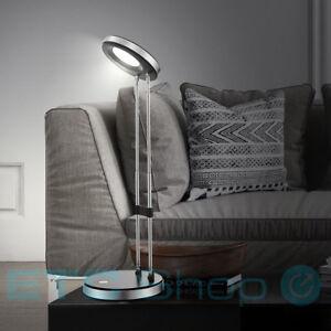 Lampe-de-table-a-LED-lecture-eclairage-luminaire-chrome-noir-reglable-en-hauteur