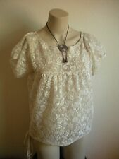 AMAZING CO., LTD BEIGE LACE Marnie TOP MADE IN JAPAN!!!