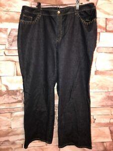 a1ebb5ac48590 Details about Jones New York Signature Stretch Women's Plus Size Jeans 22 W  Dark Wash