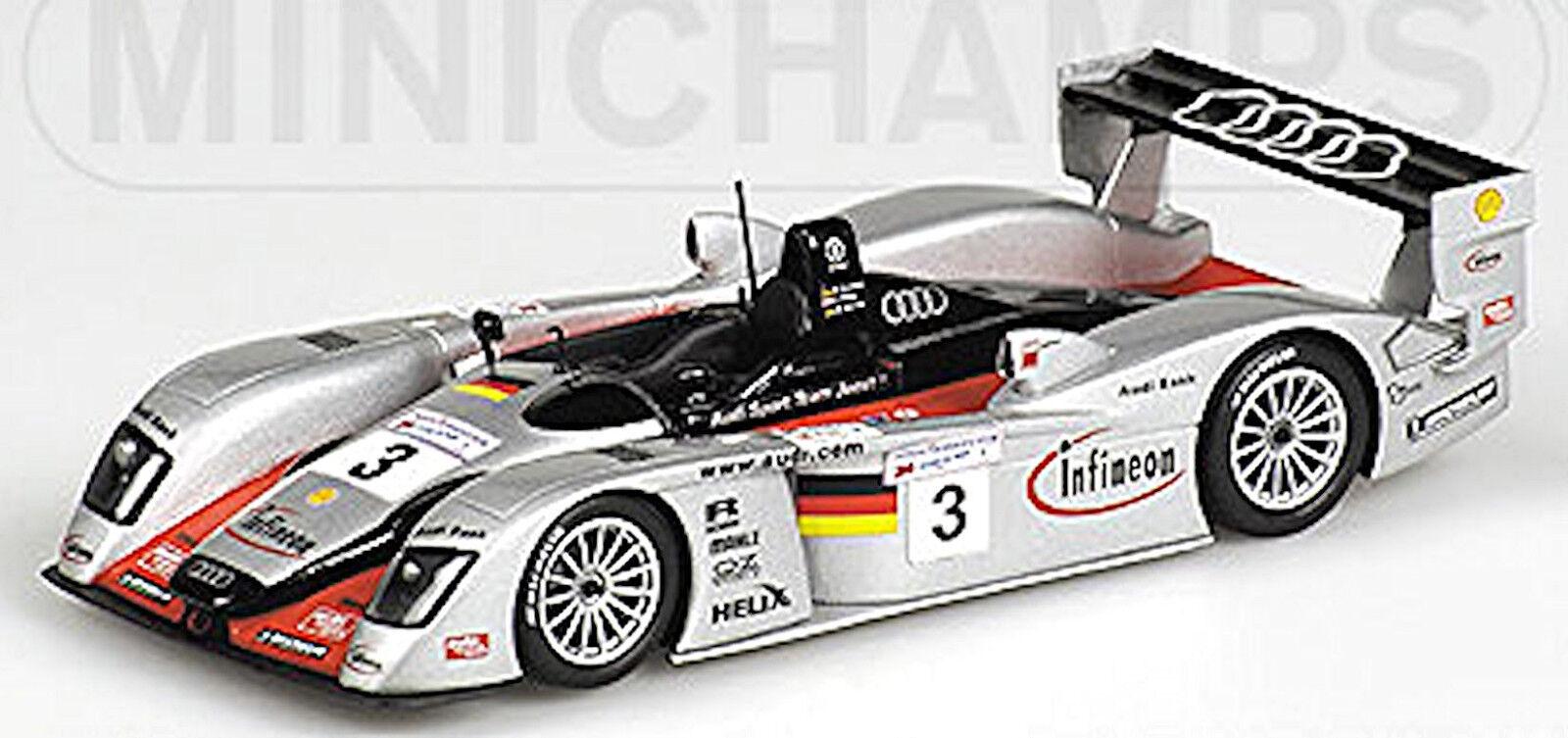 Audi R8R Le Mans 2002 Krumm Peter Werner  3 équipe Joest 1 43 Minichamps