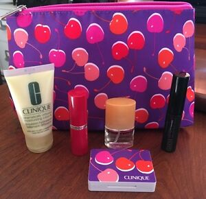 Image is loading Clinique-Gift-Bag-with-Lotion-Perfume-Mascara-Lipstick-