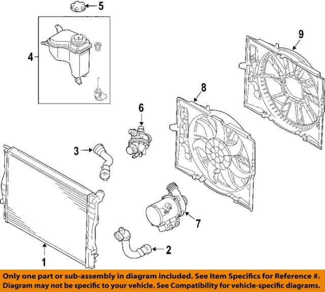 bmw oem 12 13 128i engine cooling fan motor 17427547305 ebay rh ebay com 2010 BMW 128I Coupe Review 2009 BMW 128I Review