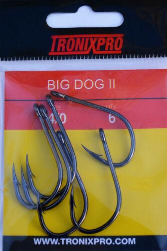 Tronixpro Big Dog II Hooks Sea Fishing Rig Hooks 1//0 to 6//0 All Sizes